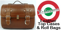 Yelcome Leather Top Cases and Roll Bags for Piaggio Vespa PX LX LXV GTS GTV